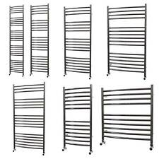 304 Stainless Steel Heated Towel Rail Bathroom Radiator Curved Ladder Polished