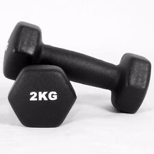 4kg Neoprene Iron Dumbbells Aerobic Strength Hand Weights Gym Home Fitness