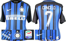 17 / 18 - NIKE; INTER MILAN HOME SHIRT SS + SERIE A BADGE / CANCELO 7 = ADULTS