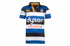 Canterbury Unisex Bath 2017/18 Home Kids S/S Pro Rugby Shirt Top Sports Training