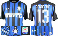 17 / 18 NIKE; INTER MILAN HOME SHIRT SS + SERIE A BADGE / RANOCCHIA 13 = ADULTS