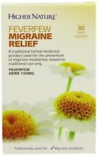 Higher Nature Traditional Herbals Feverfew Migraine Relief 30 Capsules