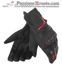 Guanti Dainese Tempest D-Dry Short Nero Rosso Moto Gloves