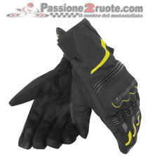 Guanti Dainese Tempest D-Dry Short Nero Giallo-Fluo Moto Gloves