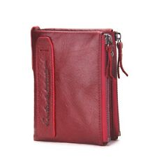 Coin Purse Ladies Fashion Leather Women Wallet Small ID Card Holder With Zipper