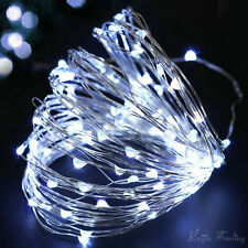 Xmas 20LED Copper Wire String Battery Operated Micro Fairy Lights Party Wedding