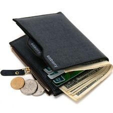 Wallet Bi-fold Fashion Men ID Card Holder Coin Purse Pocket Clutch Zipper Pouch