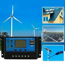 Charge Regulator Solar Charge Controller Energy System 12V 24V LCD Display USB