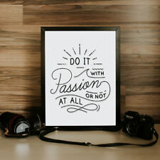 Do it with passion Frame Print | Friend, Marriage, Anniversary, Birthday Gift