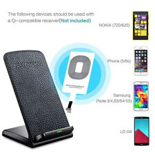 For iPhone 8/X Fast Chargers 2 Coils QI Wireless Charging Pad Quick Charge V