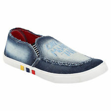 Oricum Men's Blue Casual Canvas Loafers -ORIFWSH-688