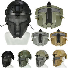 Tactical Airsoft SPT Sparta Mask Steel Mesh Full Face Mask Fast Helmet Shield
