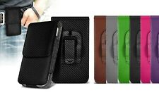Universal Vertical Leather Belt Pouch Case Cover for Huawei Y7