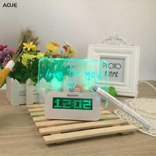 Alarm Clock Electronic LED Fluorescent Digital Home Office Table Time Display