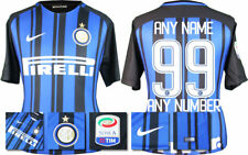 17 / 18 NIKE; INTER MILAN HOME SHIRT SS + SERIE A BADGE / PERSONALISED = KIDS