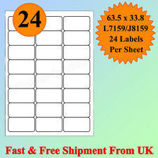 A4 SIZE 24 per sheet Address Labels Self Adhesive Inkjet Laser Printer CHEAPEST