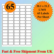 A4 SIZE 65 per sheet Address Labels Self Adhesive Inkjet Laser Printer CHEAPEST
