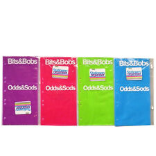 Bits & Bobs, Odds & Sods Organiser - 2 Pocket Storage Punched Clear Pouches