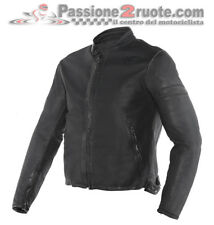 Giacca pelle Dainese Stripes D1 nero Moto leather Jacket