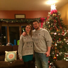 Christmas Couples Winter Sweaters Hoodie Hubby Wifey Matching Casual Clothes