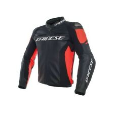 Giacca pelle Dainese Racing 3 Nero Nero Rosso Fluo Black Black Fluo Red Jacket