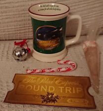 POLAR EXPRESS TRAIN GREEN 3D MUG WITH HOT CHOCOLATE, CANDY CANE, BELL AND TICKET