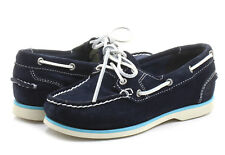 NEW! TIMBERLAND WOMEN'S EARTHKEEPERS CLASSIC NAVY BLUE SUEDE BOAT SHOES 8223A