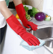 Kitchen Washing Gloves Long Sleeves Waterproof Rubber Dish Clothes Cleaning
