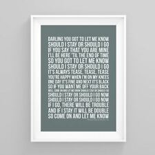 The Clash Should I Stay or Should I Go Lyrics Poster Print Artwork