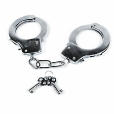 Swat Metal Handcuffs with Keys Safety Release Fancy Dress Police Thief Love Cuff