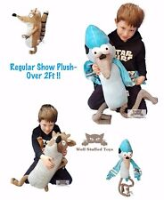 """Extra Large Rigby or Mordecai Regular Show Plush Soft Toy 24"""""""