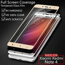 Full edge to edge Tempered glass screen protector for Indian Xiaomi Redmi note 4