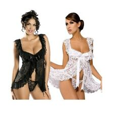 Sexy Lingerie Womens Lace Costumes Backless Underwear Dress G-String Temptation