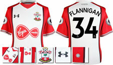 17 / 18- UNDER ARMOUR; SOUTHAMPTON HOME SHIRT SS +PATCHES / FLANNIGAN 34 =ADULTS