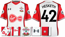 17 / 18- UNDER ARMOUR; SOUTHAMPTON HOME SHIRT SS + PATCHES / HESKETH 42 = ADULTS
