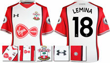 17 / 18- UNDER ARMOUR; SOUTHAMPTON HOME SHIRT SS + PATCHES / LEMINA 18 = ADULTS