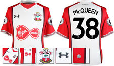 17 / 18- UNDER ARMOUR; SOUTHAMPTON HOME SHIRT SS +PATCHES / McQUEEN 38 =ADULTS