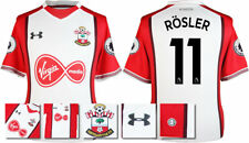 17 / 18- UNDER ARMOUR; SOUTHAMPTON HOME SHIRT SS + PATCHES / ROSLER 11 = ADULTS