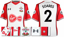 17 / 18- UNDER ARMOUR; SOUTHAMPTON HOME SHIRT SS + PATCHES / SOARES 2 = ADULTS