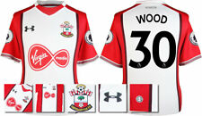 17 / 18- UNDER ARMOUR; SOUTHAMPTON HOME SHIRT SS + PATCHES / WOOD 30 = ADULTS