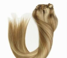 Luxury Clip In Human Hair Extensions #10/613 Remy Ombre Highlights 7pcs 120g