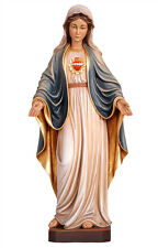 Sacred Heart of Mary statue wood carved