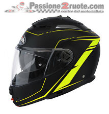 Helmet Airoh Phantom Lead black mat jaune motorrad flip-up casque modulaire