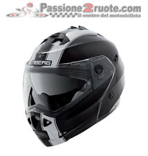 Helmet Caberg Duke Legend black white motorrad levante modular helm casco