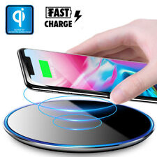 LED QI Wireless Charging Pad Thin Fast Charger Mat for iPhone X 8 Plus Note 8 S8