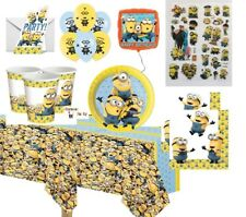 Despicable me MINIONS Party plates cups napkins bags balloons stickers games