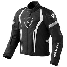 Chaqueta de motociclista Revit Rev'It Raceway Black White blanco negro sportiva