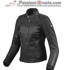 chaqueta perforado estiva motorrad mujer Rev'it Revit Vigor señora Negro black