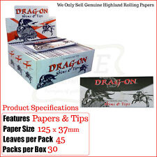 Highland drag-on fumar Papeles And Roach Tips - Buy 2/4/8 FULL Caja 30 Paquetes