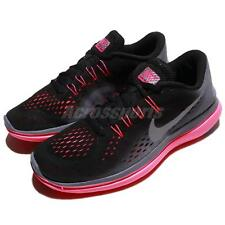 Wmns Nike Flex 2017 RN Black Metallic Grey Pink Women Running Shoes 898476-009